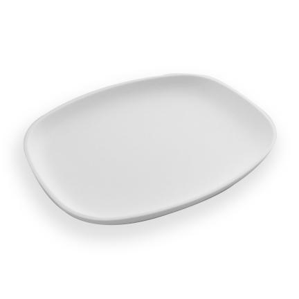 assiette matte rectangulaire blanche 10 x 8 x 1 le. Black Bedroom Furniture Sets. Home Design Ideas