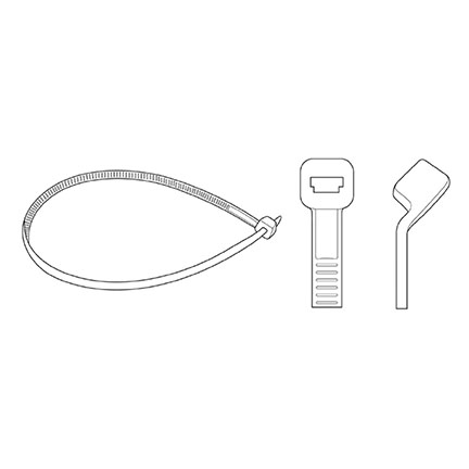 "Attaches noires bar-lock, 11"" (100/pqt)"